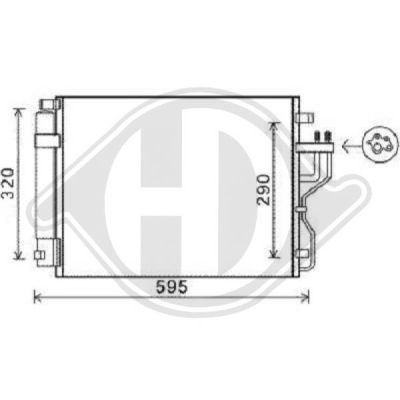 Condenseur, climatisation - Diederichs Germany - 8686100