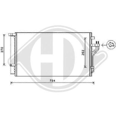 Condenseur, climatisation - HDK-Germany - 77HDK8686101