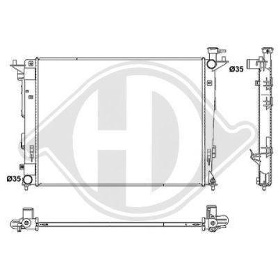 Radiateur, refroidissement du moteur - Diederichs Germany - 8686105