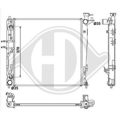 Radiateur, refroidissement du moteur - Diederichs Germany - 8686107
