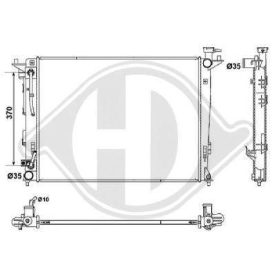 Radiateur, refroidissement du moteur - HDK-Germany - 77HDK8686108