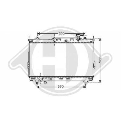 Radiateur, refroidissement du moteur - Diederichs Germany - 8687000