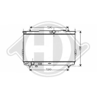 Radiateur, refroidissement du moteur - Diederichs Germany - 8687001