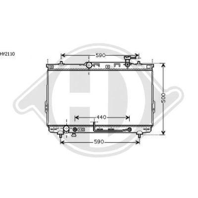Radiateur, refroidissement du moteur - Diederichs Germany - 8687003