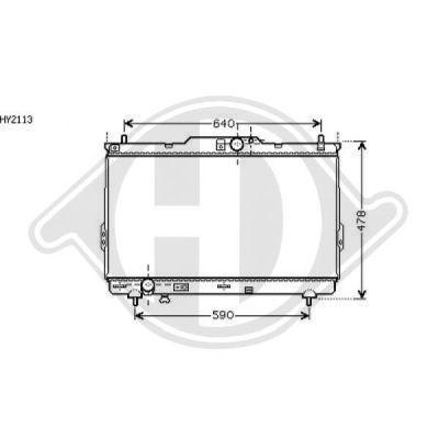 Radiateur, refroidissement du moteur - Diederichs Germany - 8687004