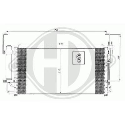 Condenseur, climatisation - Diederichs Germany - 8687005
