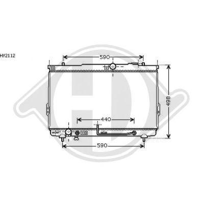 Radiateur, refroidissement du moteur - Diederichs Germany - 8687006