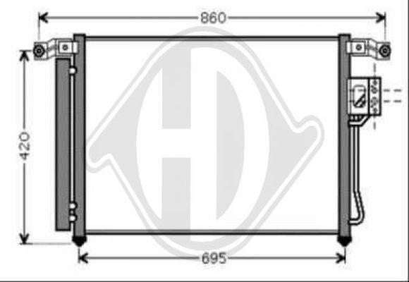 Condenseur, climatisation - Diederichs Germany - 8687101