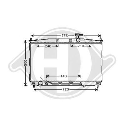 Radiateur, refroidissement du moteur - Diederichs Germany - 8687105
