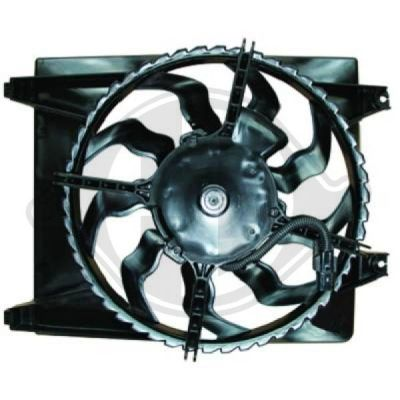 Ventilateur, condenseur de climatisation - HDK-Germany - 77HDK8687107
