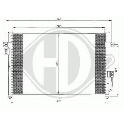 Condenseur, climatisation - Diederichs Germany - 8688005