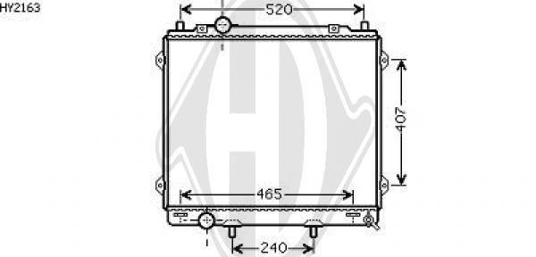 Radiateur, refroidissement du moteur - Diederichs Germany - 8688081