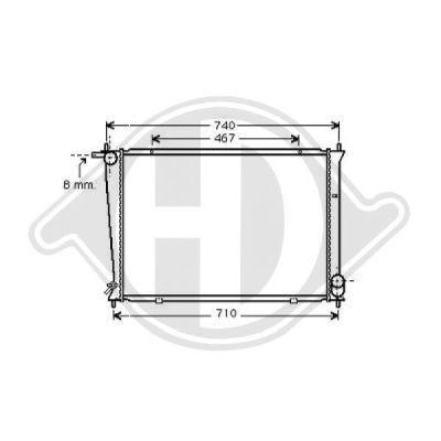 Radiateur, refroidissement du moteur - HDK-Germany - 77HDK8688205