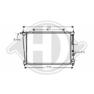 Radiateur, refroidissement du moteur - Diederichs Germany - 8688206