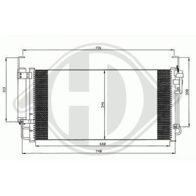 Condenseur, climatisation - Diederichs Germany - 8688500