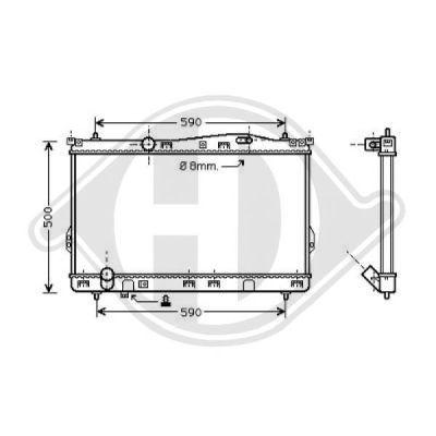 Radiateur, refroidissement du moteur - Diederichs Germany - 8688505