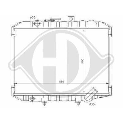 Radiateur, refroidissement du moteur - Diederichs Germany - 8689005