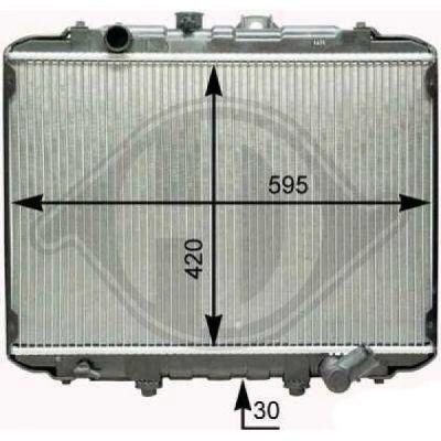 Radiateur, refroidissement du moteur - Diederichs Germany - 8689006