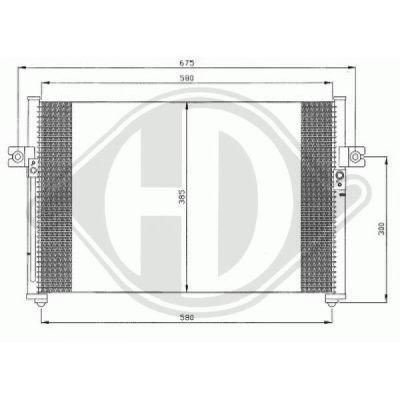 Condenseur, climatisation - Diederichs Germany - 8689007