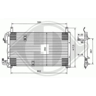 Condenseur, climatisation - Diederichs Germany - 8690000