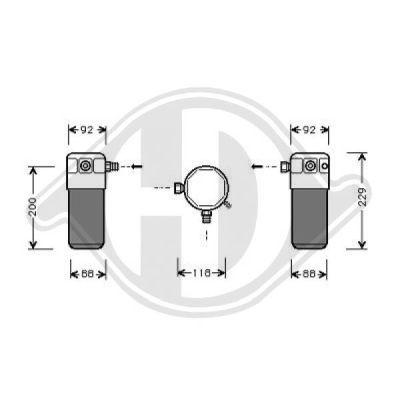 Filtre déshydratant, climatisation - HDK-Germany - 77HDK8690001