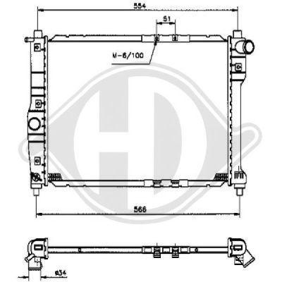 Radiateur, refroidissement du moteur - HDK-Germany - 77HDK8691060