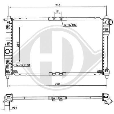 Radiateur, refroidissement du moteur - HDK-Germany - 77HDK8691062