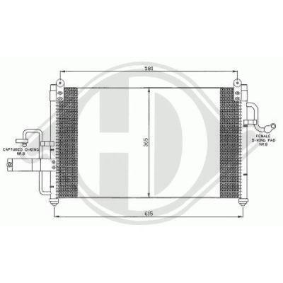Condenseur, climatisation - Diederichs Germany - 8691065