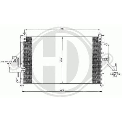 Condenseur, climatisation - Diederichs Germany - 8691105