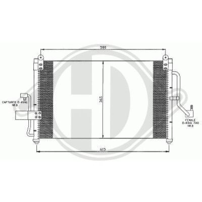 Condenseur, climatisation - HDK-Germany - 77HDK8691105