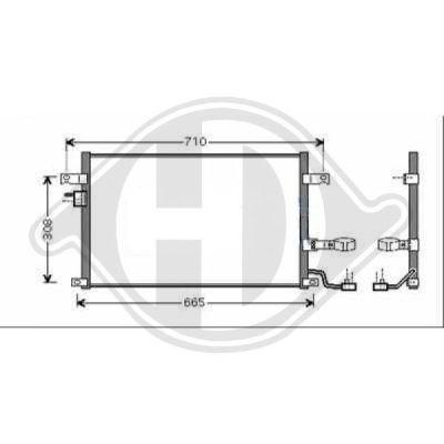 Condenseur, climatisation - Diederichs Germany - 8691200