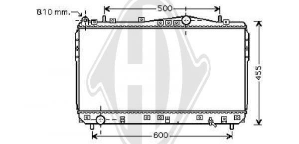 Radiateur, refroidissement du moteur - HDK-Germany - 77HDK8691205