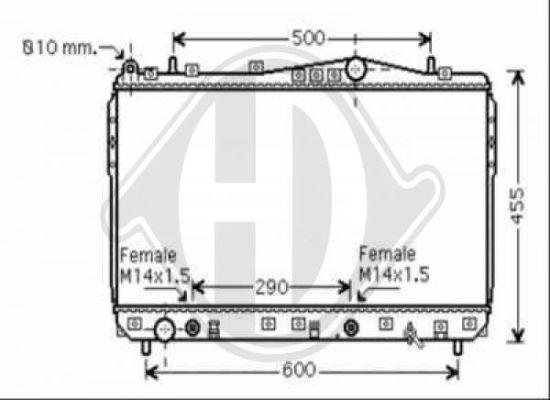 Radiateur, refroidissement du moteur - HDK-Germany - 77HDK8691206