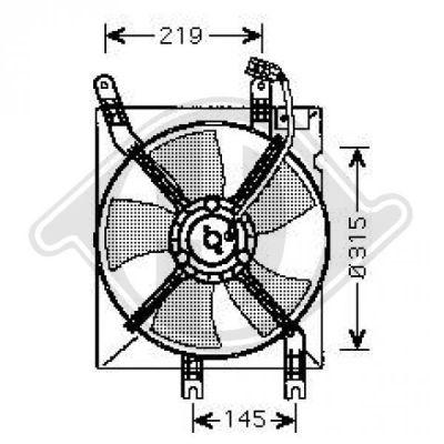 Ventilateur, refroidissement du moteur - Diederichs Germany - 8691207