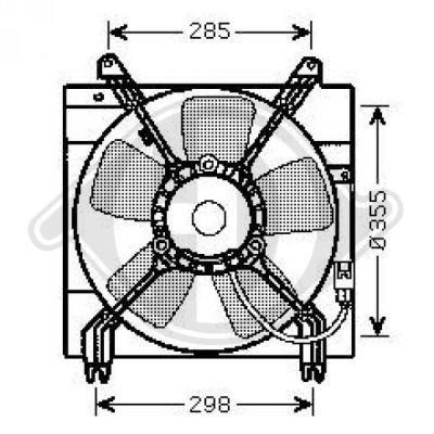 Ventilateur, refroidissement du moteur - Diederichs Germany - 8691209