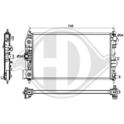Radiateur, refroidissement du moteur - Diederichs Germany - 8691305