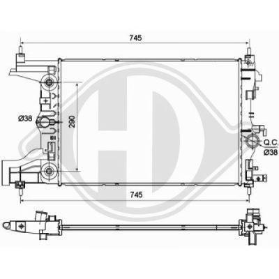 Radiateur, refroidissement du moteur - HDK-Germany - 77HDK8691306