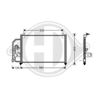 Condenseur, climatisation - Diederichs Germany - 8692000
