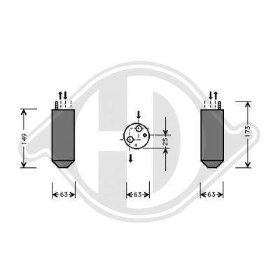 Filtre déshydratant, climatisation - Diederichs Germany - 8692001
