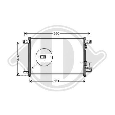 Condenseur, climatisation - Diederichs Germany - 8692500