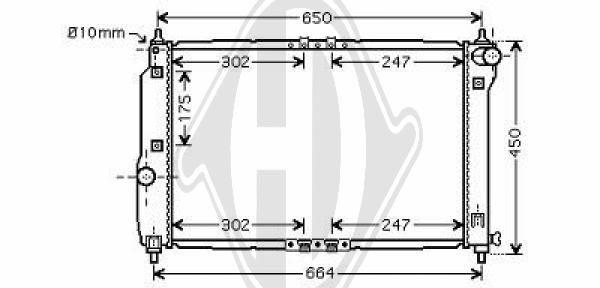 Radiateur, refroidissement du moteur - Diederichs Germany - 8692502