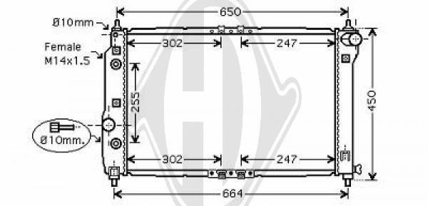 Radiateur, refroidissement du moteur - Diederichs Germany - 8692503