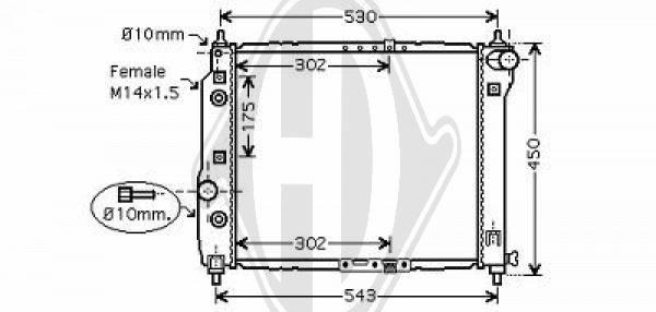 Radiateur, refroidissement du moteur - Diederichs Germany - 8692504