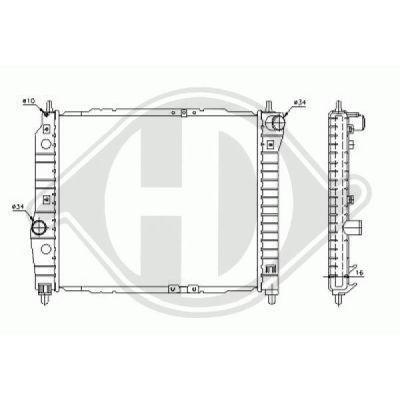 Radiateur, refroidissement du moteur - Diederichs Germany - 8692505