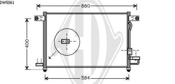 Condenseur, climatisation - Diederichs Germany - 8692506