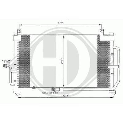 Condenseur, climatisation - Diederichs Germany - 8693000