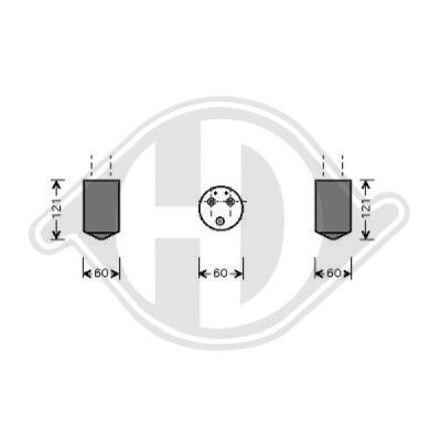 Filtre déshydratant, climatisation - Diederichs Germany - 8693001