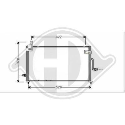 Condenseur, climatisation - Diederichs Germany - 8693010