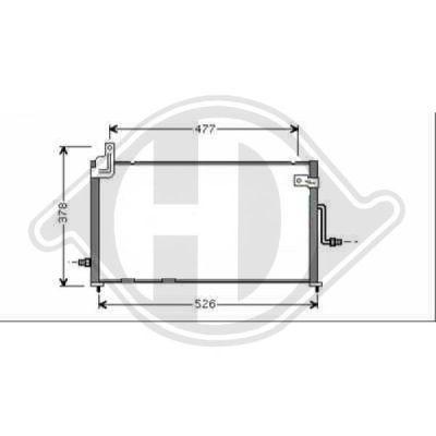 Condenseur, climatisation - Diederichs Germany - 8693011