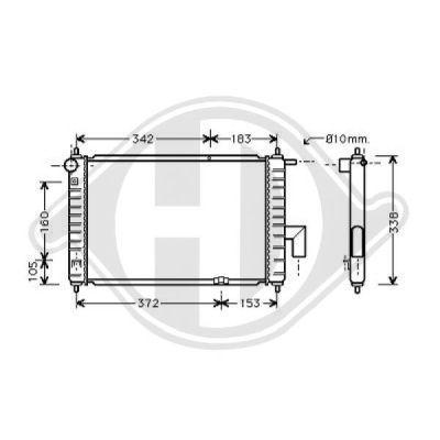 Radiateur, refroidissement du moteur - Diederichs Germany - 8693015